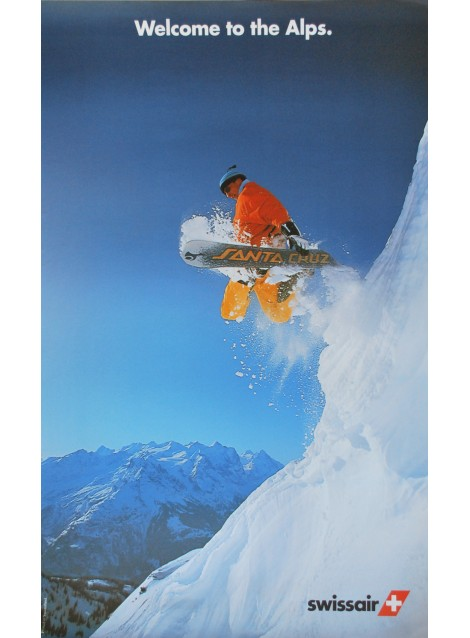 Swissair. Welcome to the Alps. 1985.