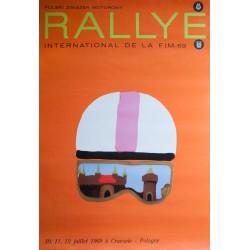 Maciej Urbaniec. Rallye international de la F.I.M. Cracovie, Pologne. 1969.