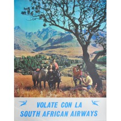 Volate con la South African Airways. Vers 1970.