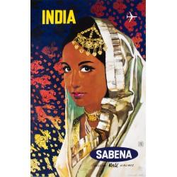 India. Sabena. Vers 1970.