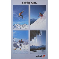 ... Sky the Alps. Swissair. Vers 1980.