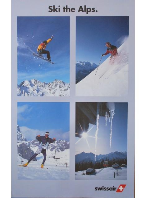... Sky the Alps. Swissair. Vers 1980.