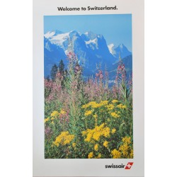 Swissair. Welcome to Switzerland. Vers 1980.