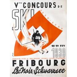 Ihringer. Concours de Ski, Lac Noir, Fribourg. 1939.