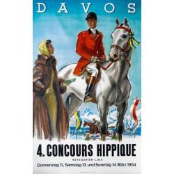 Concours hippique. Davos. 1954.