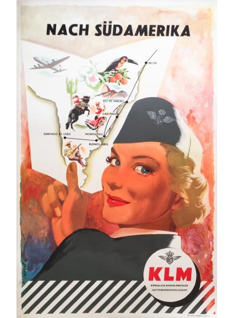 Frans Mettes. KLM Südamerika. 1954.