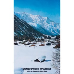 Roland Gay-Couttet. Sports d'hiver en France. Chamonix. 1976.