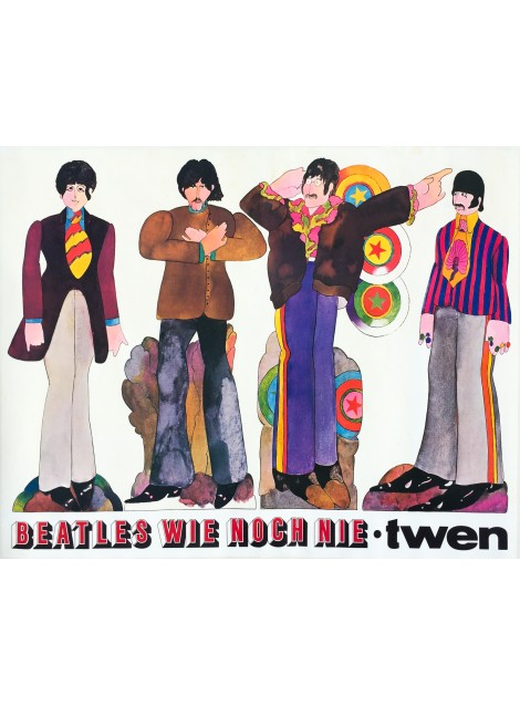 Heinz Edelmann. Beatles wie noch nie. 1967.