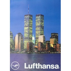 Lufthansa. New York, Twin Towers.