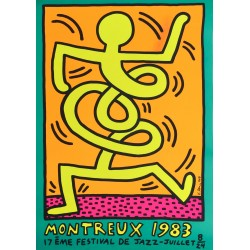Keith Haring. Festival de jazz, Montreux. 1983.