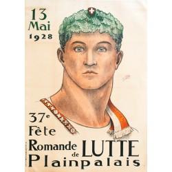 FETE DE LUTTE, GENEVE. E. TOGNETTI, 1928