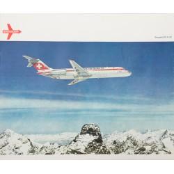 Swissair. DC-9-32. Vers 1970.
