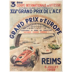 Jean des Gachons. Grand Prix d'Europe, Reims. 1959.