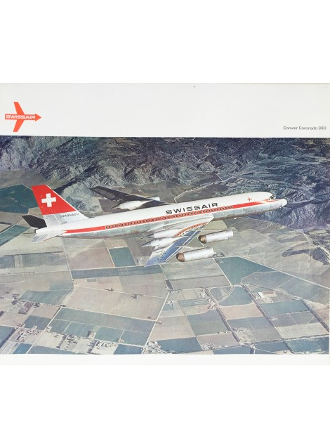 Swissair. Convair Coronado 990. Vers 1962.