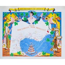 Rémy Hétreau. Les vignobles de France. Vins de Roussillon Midi Provence. 1954.