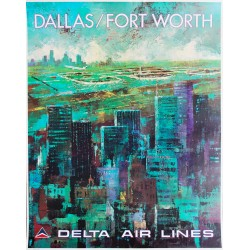 Jack Laycox. Dallas Fort Worth. Delta Air Lines. Vers 1970.