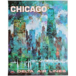 Jack Laycox. Chicago. Delta Air Lines. Vers 1970.