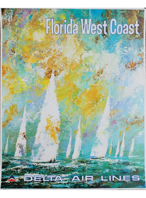 Jack Laycox. Florida West Coast. Delta Air Lines. Vers 1970.