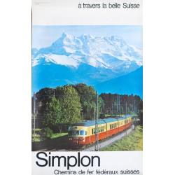 Simplon. Chemins de fer fédéraux suisses. Vers 1970.