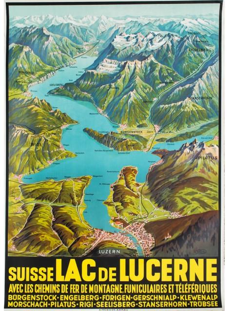 Joseph Ruep. Lac de Lucerne. Vers 1940.