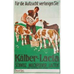 Edouard Elzingre. Kälber-Lacta. Vers 1930.