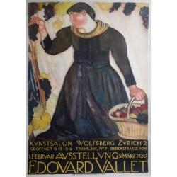 Edouard Vallet. Ausstellung Wolfsberg Zürich. 1922.