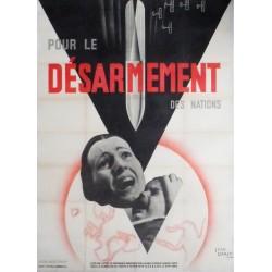 Jean Carlu. Pour le désarmement des nations. 1932.