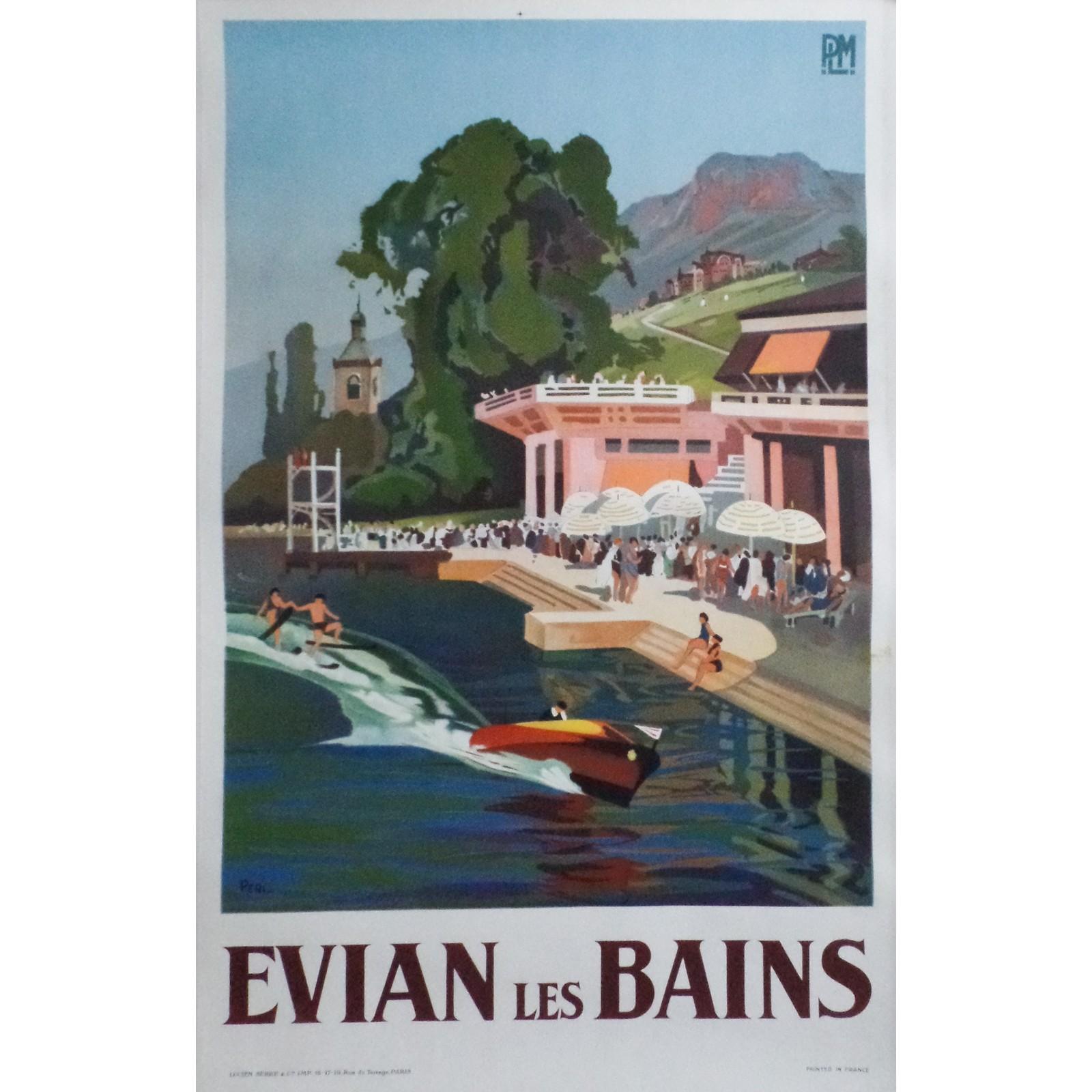 Lucien p ri evian les bains plm 1929 posters we love - Salle de sport evian les bains ...