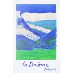 Bernard Cathelin. La Drôme. Vers 1970.