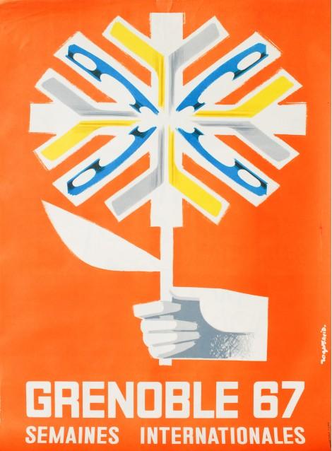 Roger David. Grenoble 68. Semaines internationales. 1968.