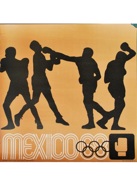 Lance Wyman. Mexico 68. Boxe. 1968.