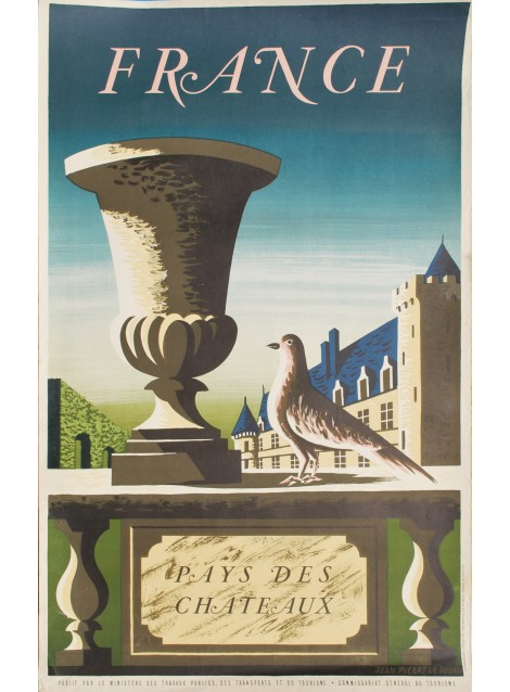 Jean Picart Le Doux. France, Pays des châteaux. 1950.