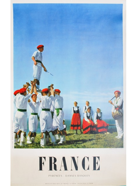 Gaston Karquel. France. Pyrénées. Danses basques. Vers 1955.