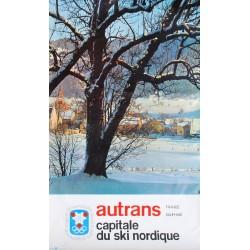 Autrans, capitale du ski nordique. Jeux olympiques d'hiver, Grenoble. 1968.