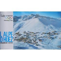 Alain Perceval. L'Alpe d'Huez. Xe Jeux olympiques d'hiver, Grenoble. 1968.