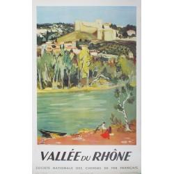 Yves Brayer. Vallée du Rhône. 1951.