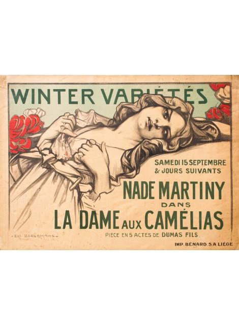 LA DAME AUX CAMÉLIAS, EMILE BERCHMANS, 1900