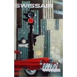 Nikolaus Schwabe. Swissair USA. 1961.
