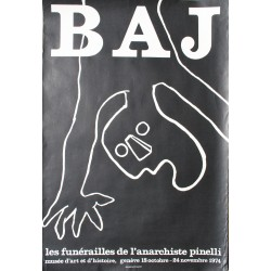 Enrico Baj. Les funérailles de l'anarchiste Spinelli. 1974.