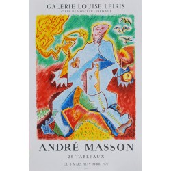 André Masson. Galeirie Louise Leiris. 28 tableaux. 1977.