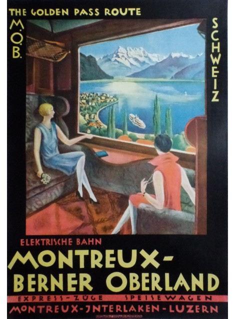 Montreux - Berner Oberland. The Golden Pass Route. 1922.