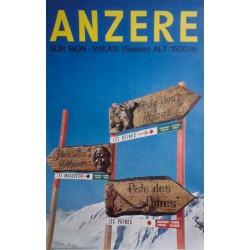 Anzère. Sur Sion. Valais (Suisse). Vers 1970.