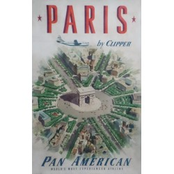 Paris by Clipper. Pan American. 1951.