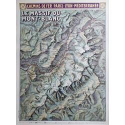 Louis Trinquier-Trianon. Le Massif du Mont-Blanc PLM. 1925.