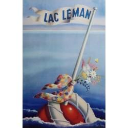 Frank Chabry. Lac Léman. Vers 1955.