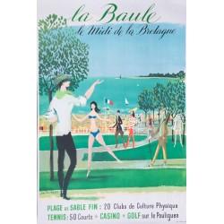 Jean-Denis Malclès. La Baule. Vers 1960.