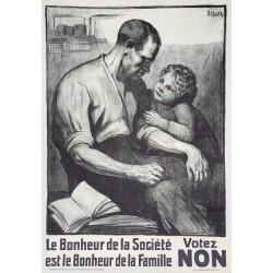 Dora Hauth. Le bonheur de la société... Votez non. 1924.