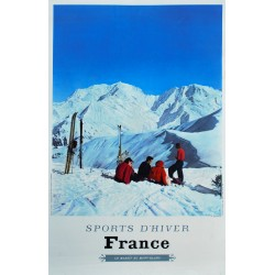 Karl Machatschek. France. Sports d'hiver. 1963.