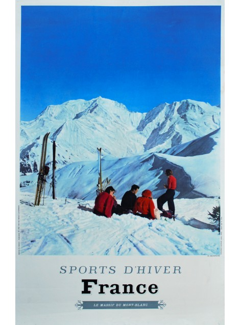 Karl Machatschek. France. Sports d'hiver. 1963.