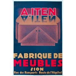 A. Itten, Fabrique de meubles, Sion. Vers 1935.
